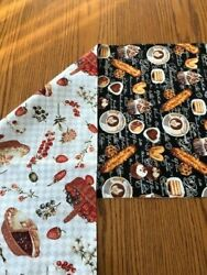 Coffee themed on one side and homemade pies on the other table runner; 57 x 14 $16.75