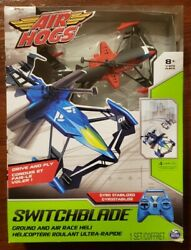 New Red Air Hogs Switchblade Ground amp; Air Race RC Remote Helicopter $20.00