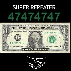 Fancy Serial number bill BINARY SUPER REPEATER $89.99