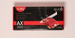 Cudy AX3000 Dual Band Wifi 6 Bluetooth 5.0 PCIe Adapter quot;Newquot; $26.99