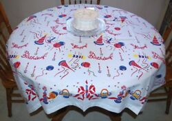 REPRODUCTION VINTAGE 1940#x27;s 1950#x27;s quot;HAPPY BIRTHDAYquot; TABLECLOTH NEW MUST SEE $41.25