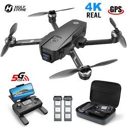 Holy Stone HS720E RC Drone with 4K EIS UHD Camera Brushless Quadcopter 2 Battery $269.95