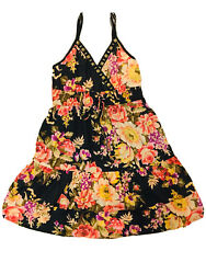 Bohemia Style women summer dress Rose floral Black Size L $24.31