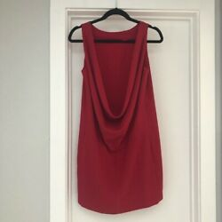 Moschino cheap and chic drape open back dress size 8 $80.00