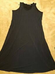 Susan Graver Ladies Long Dress. 3X. Blue.. Sleevless $17.90