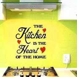 Wall Stickers The Kitchen is the Heart of the Home Wall Kitchen Decal Decor W $6.00