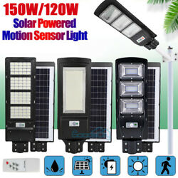 Outdoor Commercial 199000LM Solar Street Light IP67 Dusk to Dawn Road Lamp