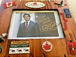 """Justin Trudeau 7""""x 5"""" Rare Signed Picture See All Pics I did not get this C $555.00"""