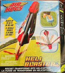 AIR HOGS HELI BLASTER ROCKET TRANSFORMS INTO HELICOPTER OUTDOOR TOY NIB $12.00