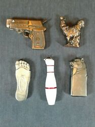 Five Vintage Novelty Cigarette Lighters $30.00