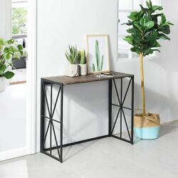 Corridor Wall Living Room Long Table for Laptop Decor Books Daily Stuff $158.99
