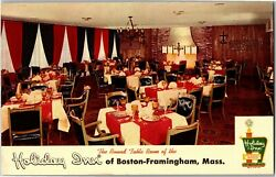 Round Table Room of Holiday Inn Boston Framingham MA Vintage Postcard P30 $7.49