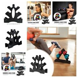 Portable Dumbbell Stand Racks Floor Weight Support Bracket Holder Accessories $21.99