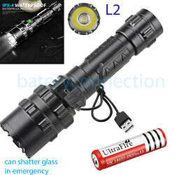 Super bright Flashlight 20000LM USB Rechargeable Shadowhawk Tactical Torch 18650 $11.99