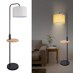 Modern Floor Lamp with Table LED Minimalist Floor Lamp with USB Ports AC and $94.94