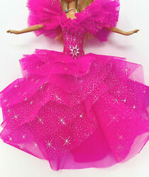 Barbie Happy Holidays 1990 Replacement Large Pink Dress Clothes Only $19.99