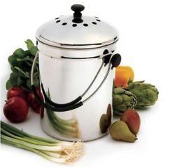 Stainless Steel Kitchen Compost Keeper Bin Charcoal Filter Vegetables Fruits $109.99