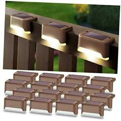 Solar Deck Lights 16 Pack Fence Post Solar Lights for Patio Pool Stairs Step $48.84