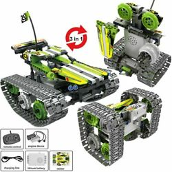 High Tech RC Car Remote Control Tracked Stunt Racer Car Electric Model Building $64.99