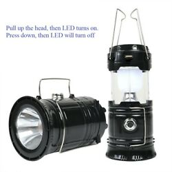 Solar Power Rechargeable LED Flashlight Lantern Camping Tent Lights Lamp $11.89