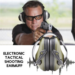 Shooting Electronic Noise Ear Muffs Hearing Protection Sound Pickup Headphones $31.99