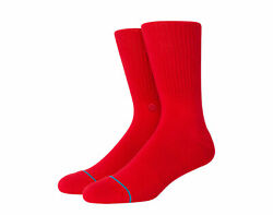 Stance Icon Classic Crew Red Socks M311D14ICO RED $14.00