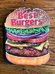 Best Burgers Novelty Cut Out Shaped Cookbook 40 Great Tasting Recipes Good $3.00