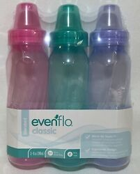 NEW Evenflo 3 Pack Classic Standard Baby Bottles BPA Free 8 Ounce $9.99