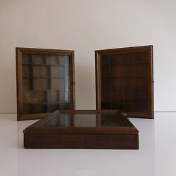 3 Displays Rustic For Objects Of Collection Handmade Vintage 20th PN France $812.82