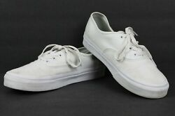 """VANS """"Off The Wall"""" White Men's Canvas Skateboarding Shoes Size 5.5 721356 $16.15"""