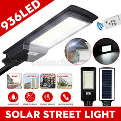 900000LM Commercial Solar Street Light 936 LED Dusk to Dawn Road Lamp Outdoor