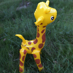 Children Deer Shaped PVC Novelty Animals Inflatable Toy Giraffe Design Large $6.73