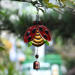 Insect Ladybug Wind Chimes Pendant Outdoor Hanging Ornament Home Garden Decor $10.45