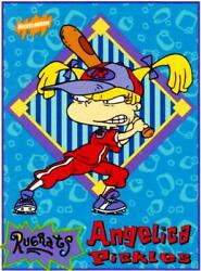 NICKELODEON BASEBALL 1997 RUGRATS OVERSIZED 3X4 ANGELICA PICKLES TRADING CARD $9.99