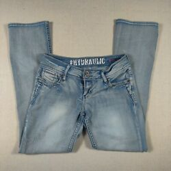 Hydraulic Womens Low Rise Metro Flare Jeans Size 9 10 cute fun FAST SHIPPING $24.50