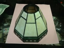 Small Stained Glass Lamp Shade Arts amp; Crafts Mission Tiffany Style Carmel Green $16.95