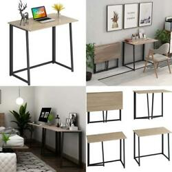 4Nm 31.5quot; Small Desk Folding Computer Desk Home Office Desk Study Writing Table $93.49