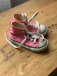Converse Chuck Taylor All Star Girls High Top Canvas Sneakers Pink Size 8 Kids $16.99