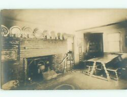 rppc Pre 1930 ANTIQUE COOKING CAULDRON HANGING IN THE FIREPLACE AC7785 C $3.44