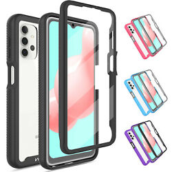 For Samsung Galaxy A32 5G Clear Case Hybrid Cover With Built in Screen Protector $7.96