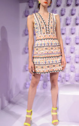 Alice Olivia Women Mini Dress Multicolor Embroidered Party Cocktail Size M 10 $238.00