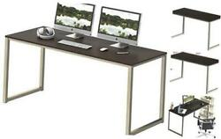 Home Office Desk 48 Inch Computer Desk Silver Espresso $80.77