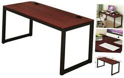 Home Office 55 Inch Large Computer Desk Black Cherry $119.54