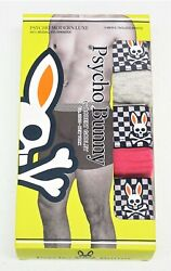 Psycho Bunny Mens Pack of 3 Boxer Briefs Green Pink Gray Stretch NEW $42 NIB $36.99