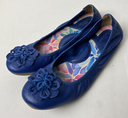 Born handcrafted footwear Leather Ballet Flat Blue Shoes Size 9.5 $34.00