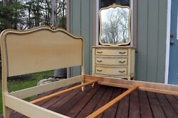 Drexel Touraine French Provincial Full Size Bed Dresser and Mirror $1750.00