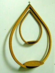 Mid Century Danish Modern MCM Bentwood Tear Drop Hanging Double Plant Holder $125.00
