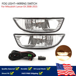 Front Bumper Fog Light Lamp Switch Wiring For Mitsubishi 2007 2012 Lancer EX USA $76.99