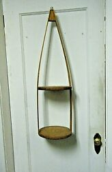 Mid Century Danish Modern MCM Bentwood Hanging Double Plant Holder $85.00