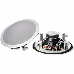 Basics 8quot; Round In Ceiling In Wall Mounted Speakers Set of 2 $151.67